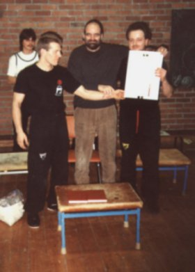 Ralph Haenel, the first East German Wing Tsun Instructor certified by GM Keith R. Kernspecht